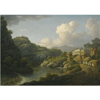 view of matlock, derbyshire by william marlow