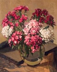 bloemen in vaas by johannes evert hendrik akkeringa