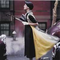 traffic, new york, vogue, 1957 by norman parkinson