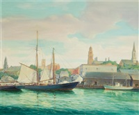 sailing into gloucester by frederick j. hoertz