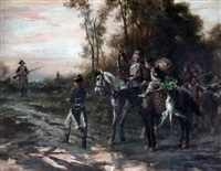 foraging party returning to camp by robert alexander hillingford