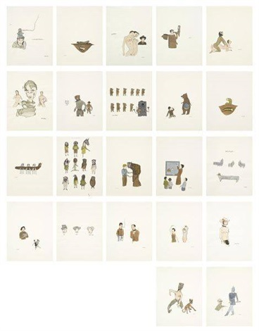untitled set of 22 by marcel dzama