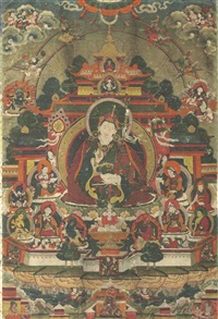 padmasambhava in his palace by anonymous-tibetan (18)