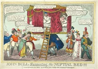 john bull supporting the nuptial bed (+ 2 others; 3 works) by j. l. marks (publisher)