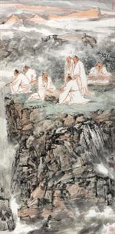 隐士雅集图 by qi haifeng