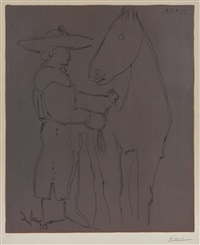 picador et cheval by pablo picasso