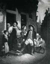 at the cobbler's door by f.h. moller
