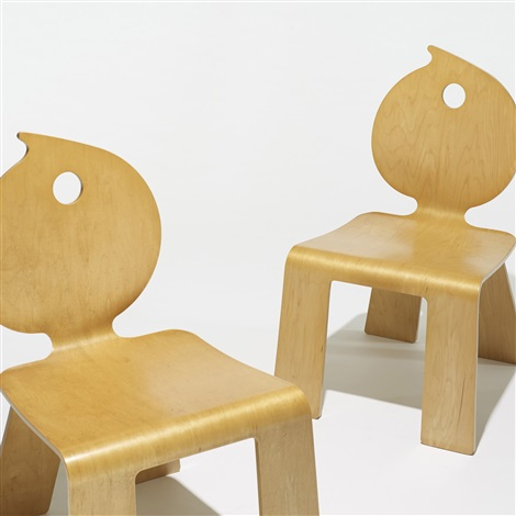 swirl chairs from the mielmonte resort hotel pair by robert venturi