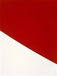 blue curve; red curve; green curve; black curve; purple curve (set of 5) by ellsworth kelly