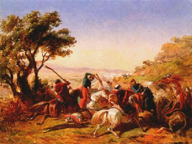 scène de bataille en algérie by benjamin roubaud