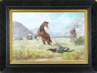 man falling from horse by julius rorphuro