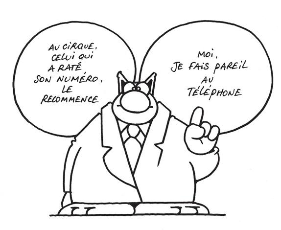 l'avenir du chat - rater son numéro (for album) by philippe geluck