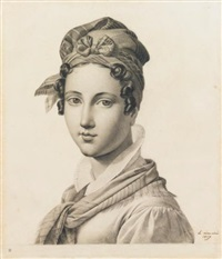 portrait of a young woman by le mire