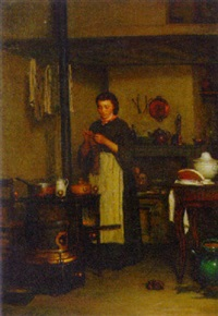 waiting for dinner to cook by antoine jean bail