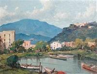 an italian landscape by fortunato fontana