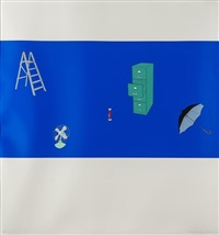 japanese screen (set of 3) by michael craig-martin