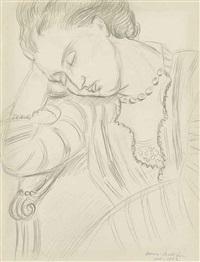 femme endormi by henri matisse