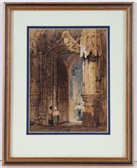 eingang einer französischen kathedrale by samuel prout