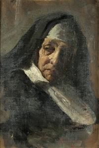 ritratto di suora (studio) by giacomo grosso