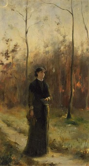 waldspaziergang by charles auguste mengin