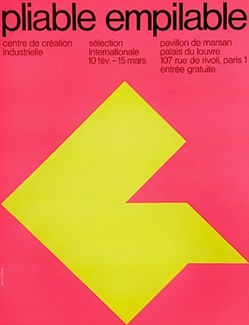 pliable empilable poster by jean widmer