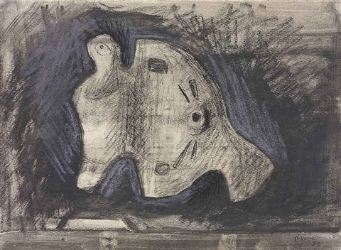 study for sculpture by henry moore
