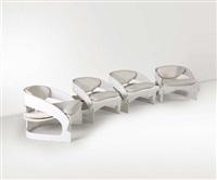 quattro poltrone modello 4801 by joe colombo