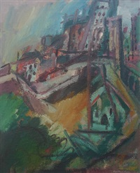 tenby, the harbour by ralph spiller