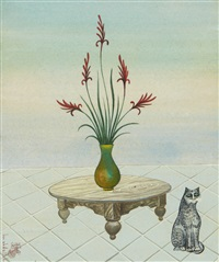 le bouquet et le chat by jellal ben abdallah