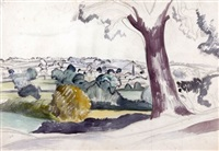 suffolk landscape by john northcote nash
