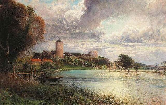 Ruiner vid Bohus Ruins at Bohus by AlfredWahlberg