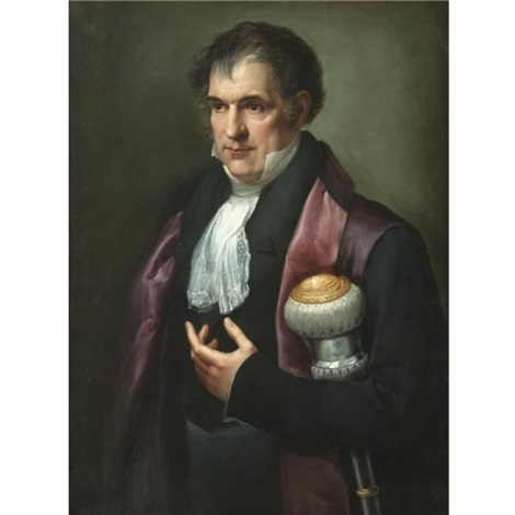 portrait of a dignitary holding a mace of office by andrea appiani