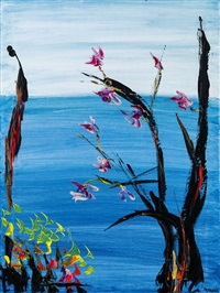 blossoms on the beach by soshana afroyim