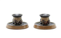 toby candleholders (pair) by harry simeon