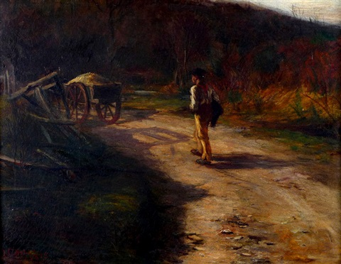 soldier behind a wagon by james campbell noble