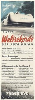 3 neue weltrekorde der auto union by victor mundorff