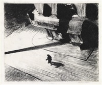 night shadows (from corner saloon) by edward hopper
