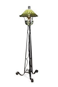 eiffel tower standard lamp by j. powell & sons