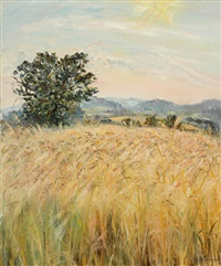 wheat field in wales by tessa perceval