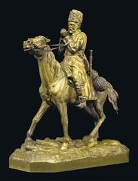 a cossack on horseback by pyotr aleksandrovich samonov