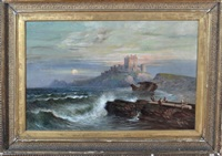 bamburgh castle by william (bill) h. webb