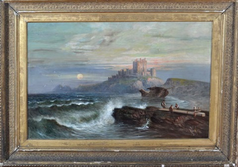 bamburgh castle by william bill h webb