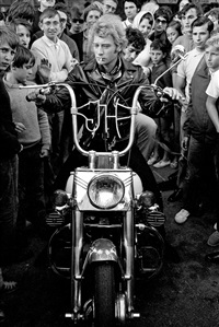 johnny halliday, harley davidson by roger picard
