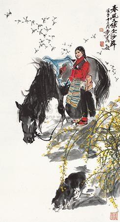 春风又绿金沙岸 by huang zhou