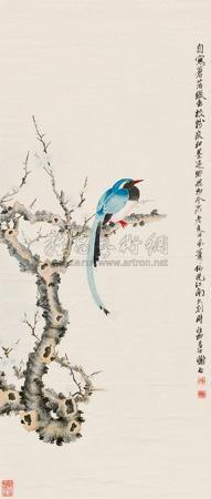 芳华雀枝图 by xie zhiliu