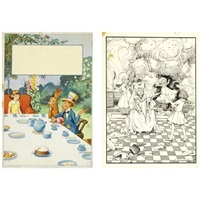 illustrations for alice's adventures in wonderland (various sizes; set of 14) by helen jacobs