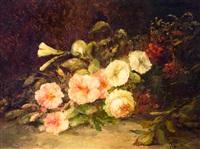 stilleven met rozen by maria van der berch van heemstede