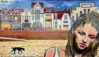 jeune fille sur la plage by nicolas vial