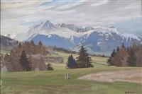 alpenlandschaft by rudolf arnold