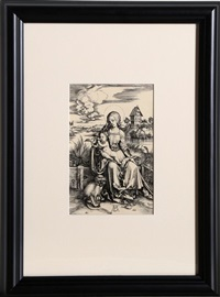 la vierge au singe by albrecht dürer